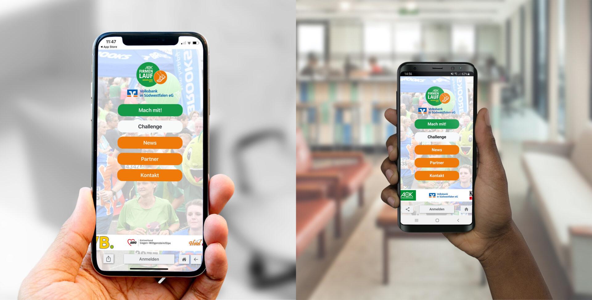 Firmenlauf-App jetzt verfügbar! 🤳🏽